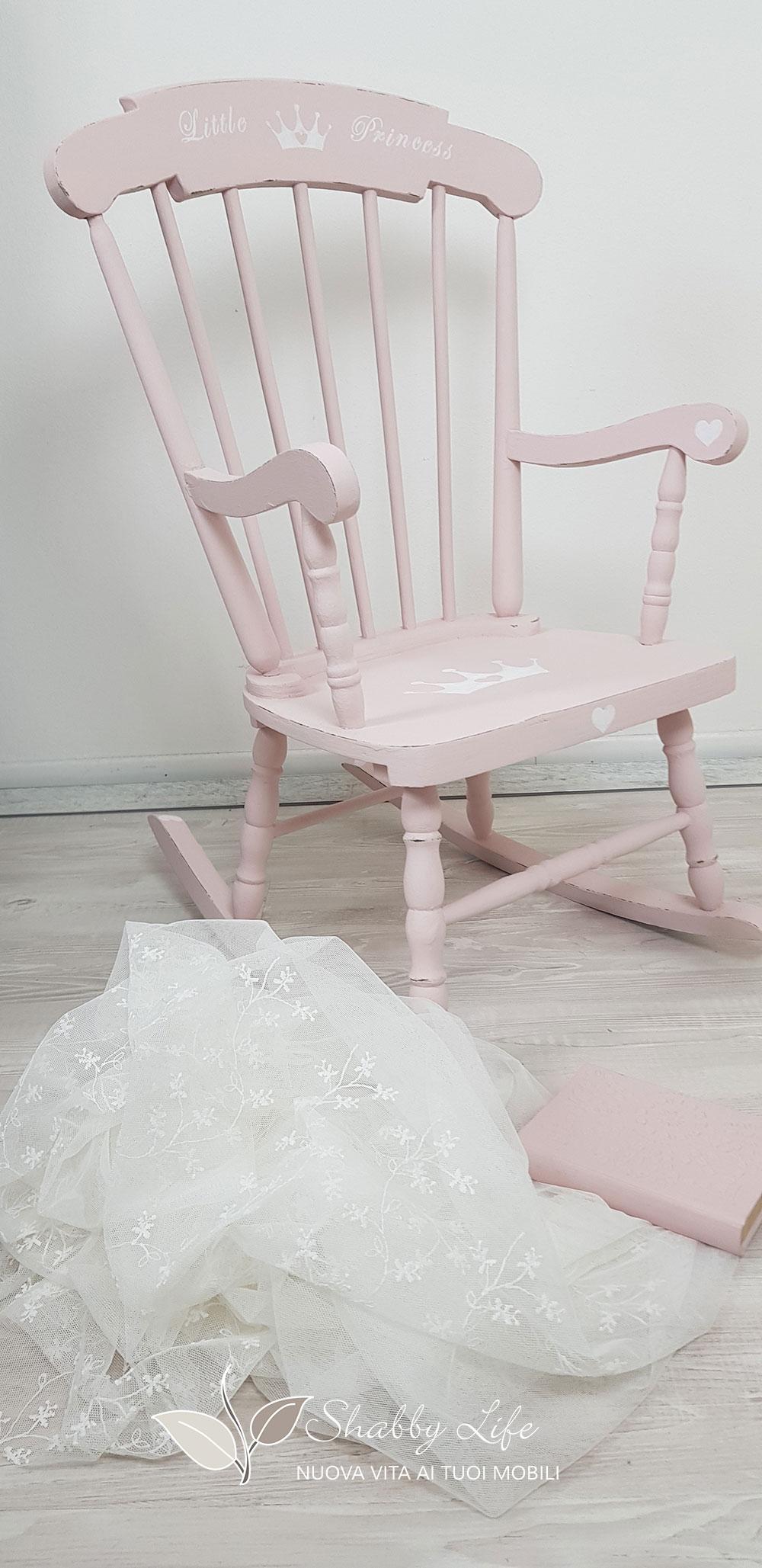 sedia a dondolo per principessa