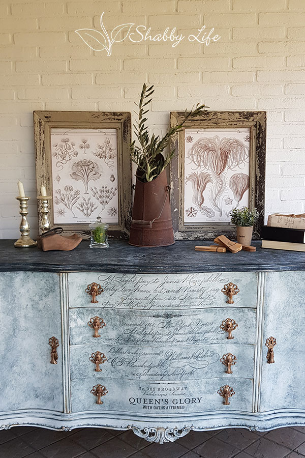 restyling credenza chippendale stile shabby chic